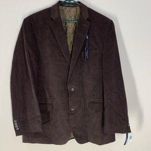 NWT CHAPS Corduroy Brown Blazer - 46 Long
